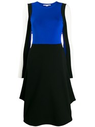 Stella Mccartney Colour Block Long Sleeved Dress Blue