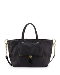 Jocelyn East West Leather Shoulder Bag Black Oryany
