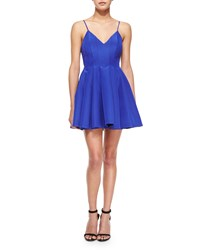 Keepsake Star Crossed Pleated Fit And Flare Dress Blue Ultmar