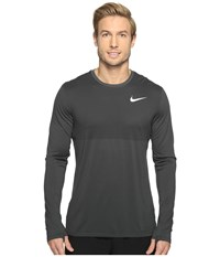 Nike Zonal Cooling Relay Long Sleeve Running Top Anthracite Men's Clothing Pewter