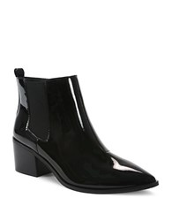 Tahari Ranch Patent Leather Ankle Length Boots Black