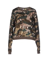 Msgm Topwear Sweatshirts Women Military Green