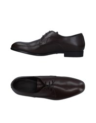 Emporio Armani Lace Up Shoes Cocoa