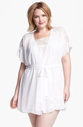 In Bloom By Jonquil Chiffon Robe Plus Size Ivory