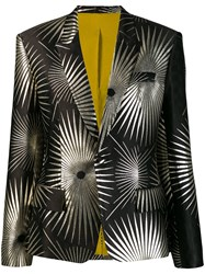 Haider Ackermann Printed Structured Blazer Black