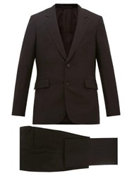 The Row Nolan Single Breasted Wool Blend Suit Black