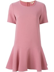 P.A.R.O.S.H. Peplum Dress Pink And Purple