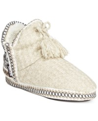 Muk Luks Amira Tassle Faux Fur Booties Women's Shoes Winter White