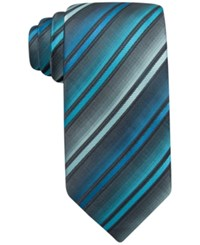 John Ashford Barrett Stripe Tie Only At Macy's Aqua