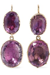 Fred Leighton 1840S 9 Karat Gold Amethyst Earrings
