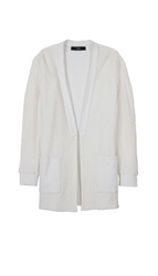 Tibi Cotton Crochet Cardigan Coat
