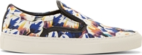 Mother Of Pearl Blue Tulip Print Achilles Slip On Sneakers