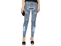 Versace Harlequin Print High Waist Leggings Blue