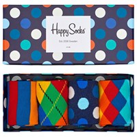 Happy Socks Bright Pattern One Size Pack Of 4 Multi