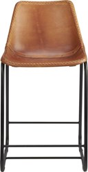 Cb2 Roadhouse 24'' Leather Counter Stool