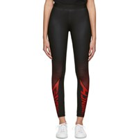 Givenchy Black Paris Sport Leggings 009 Red