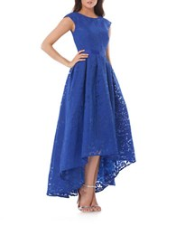 Js Collections Hi Lo Lace Gown Sapphire