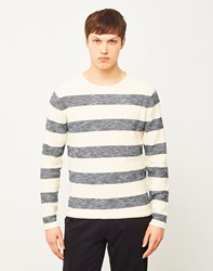 Only And Sons Aldin Striped Crew Neck Sweatshirt White