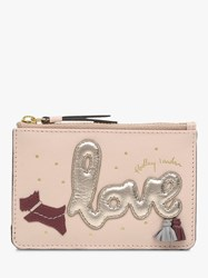 Radley Love Is In The Air Leather Small Zip Top Coin Purse Pink