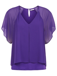 Kaliko Chiffon Layered Blouse Dark Purple