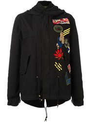 Mr And Mrs Italy Multipatch Parka Black