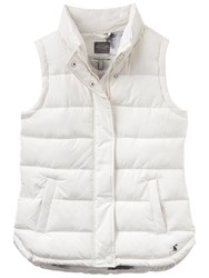 Joules Eastleigh Padded Gilet Cream
