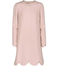Valentino Wool And Silk Long Sleeved Dress Pink