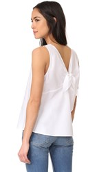 The Lady And The Sailor Tie Back Tank White