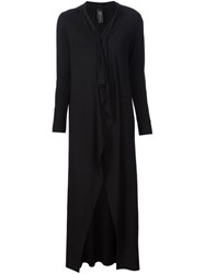 Zero Maria Cornejo Long Open Cardi Coat Black