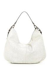 Sondra Roberts Crackle Leather Hobo Bag Black