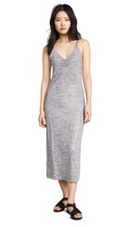 David Lerner Ruched Front Slip Dress Pink Silver