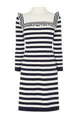 Karen Millen Breton Stripe Dress Blue Multi