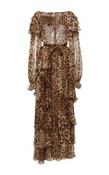 Dolce And Gabbana Leopard Print Gown Animal