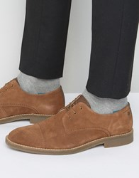 Jack And Jones Billy Suede Toe Cap Derby Shoes Tan