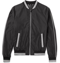 Dolce And Gabbana Shell Bomber Jacket Black