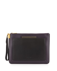 Time's Arrow Ishi Leather Wristlet Eggplant