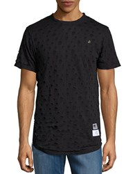 Reason Cutout Short Sleeve Tee Black