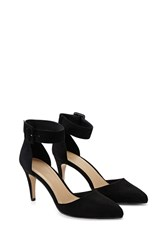 Forever 21 Faux Suede Ankle Strap Pumps