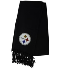 Little Earth Women's Pittsburgh Steelers Pashi Fan Scarf Black