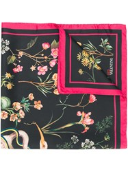 Red Valentino Floral Scarf Black