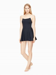 Kate Spade Plage Du Midi Strap Back Swimdress Black