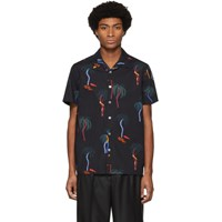 Paul Smith Ps By Black Palm Tree Short Sleeve Shirt