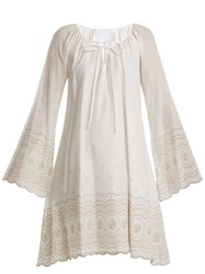Athena Procopiou Sunday Morning Embroidered A Line Dress Ivory