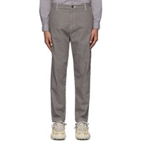 Robert Geller Grey And Off White The Striped Tapered Trousers