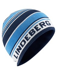 J Lindeberg Golf Acrylic Mix Beanie Hat Blue