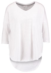 Noisy May Nmanna Abia Long Sleeved Top Bright White