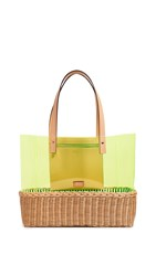 Frances Valentine Large Margaret Tote Bag Natural Yellow