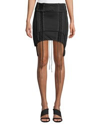 Helmut Lang Aviator Lace Up Mini Skirt Black