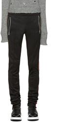 99 Is Black And Red Zip Lounge Pants
