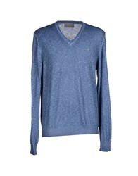 Fifty Four Knitwear Jumpers Men Slate Blue